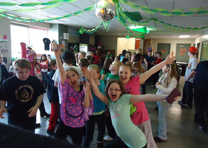 kids at dance